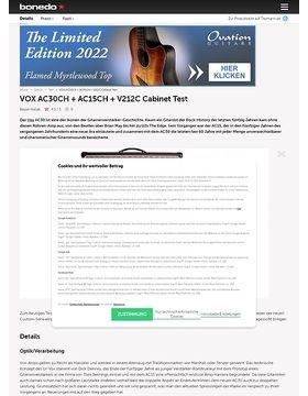 VOX AC30CH + AC15CH + V212C Cabinet