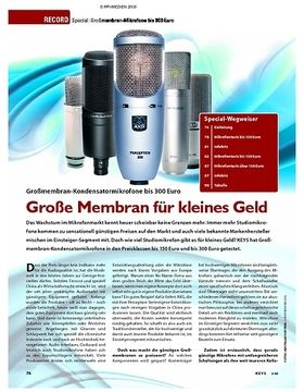 Special: Großmembran-Kondensatormikrofone bis 300 Euro