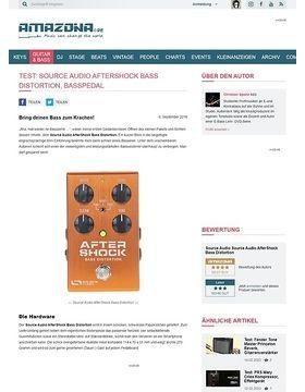 Test: Source Audio AfterShock Bass Distortion, Effektgerät für Bass