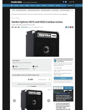 Hartke HyDrive HD15 and HD25 Combos