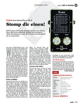 Finhol Auto Stomp Player Mk II
