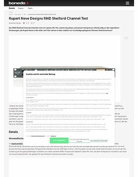 Rupert Neve Designs RND Shelford Channel