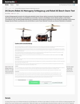 DS Drums Rebel All Mahogany Schlagzeug und Rebel All Birch Snare