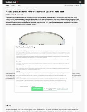 Mapex Black Panther Amber Thomann Edition Snare