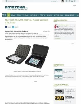 UDG Creator & Magma CTRL Case für Ableton Push 2