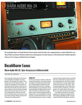 Warm Audio WA-2A - Opto-Kompressor in Röhrentechnik