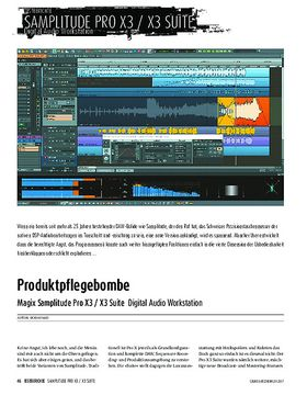 Magix Samplitude Pro X3 / X3 Suite - Digital Audio Workstation