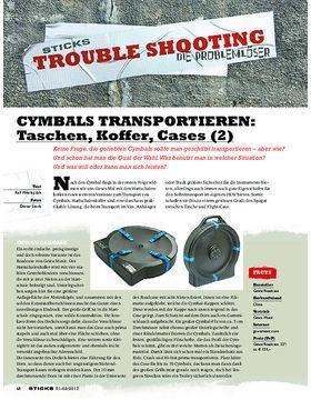 CYMBALS TRANSPORTIEREN: Taschen, Koffer, Flightcases (2)