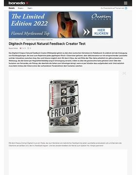 Digitech Freqout Natural Feedback Creator Test
