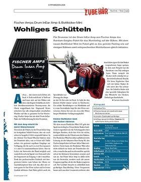 Instrumente & Technik: Fischer Amps Drum InEar Amp & Buttkicker Mini