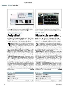 Kurztests: Korg M3 System-Update, Roland ARX-02, Thomann SP-5100