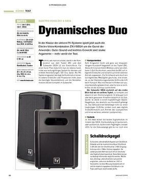 Test: Electro-Voice ZX1 & SB2A - Dynamisches Duo