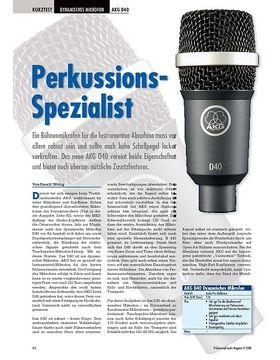 Perkussions- Spezialist AKG D40