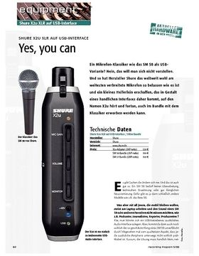 Shure X2u XLR auf USB Interface – Yes, you can