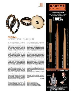 Sticks Meinl Percussion Super Dry Studio Tambourines