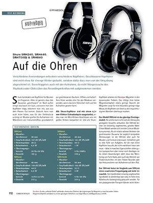 Soundcheck Shure SRH240, SRH440, SRH750DJ und SRH840