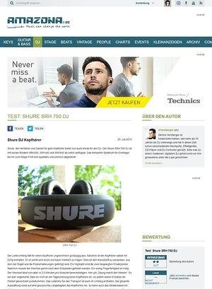 Amazona.de Test: Shure SRH 750 DJ