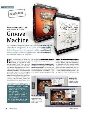 Soundcheck Test: Toontrack Music City USA und Custom & Vintage - Groove Machine