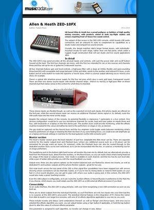 MusicRadar.com Allen & Heath ZED-10FX