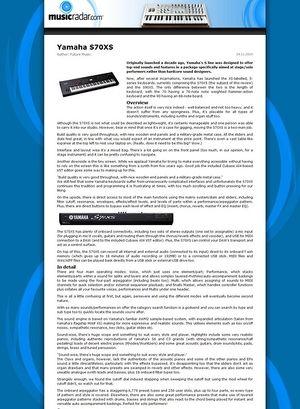 MusicRadar.com Yamaha S70XS