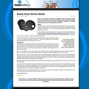 MusicRadar.com Evans Onyx Series Heads