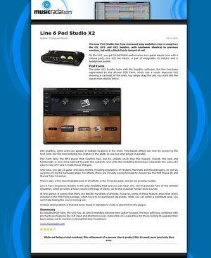 MusicRadar.com Line 6 Pod Studio X2