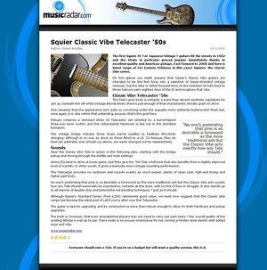 MusicRadar.com Squier Classic Vibe Telecaster '50s