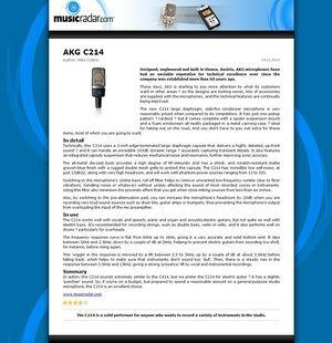 MusicRadar.com AKG C214