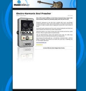 MusicRadar.com Electro-Harmonix Soul Preacher