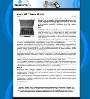 MusicRadar.com Audix DP7 Drum Kit Mic