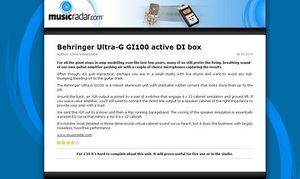 MusicRadar.com Behringer Ultra-G GI100 active DI box