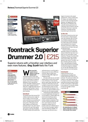 Future Music Toontrack Superior Drummer 2.0