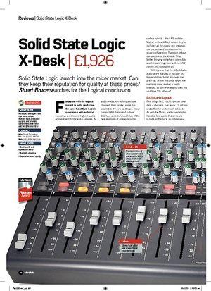 Future Music Solid State Logic XDesk