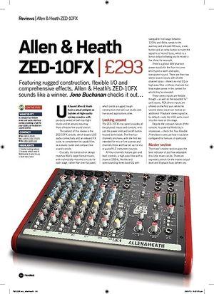 Future Music Allen and Heath ZED10FX