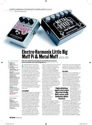 Guitarist ElectroHarmonix Little Big Muff Pi