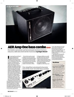 Guitarist AER Amp One bass combo