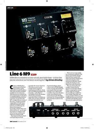 Guitarist Line 6 M9