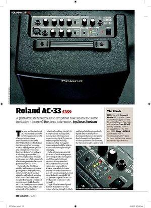 Guitarist Roland AC33
