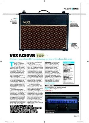 Total Guitar Vox AC30VR