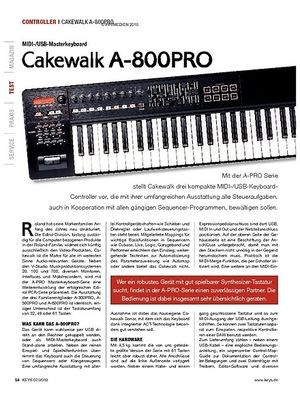 KEYS Cakewalk A-800PRO