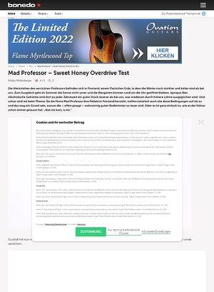 Bonedo.de Mad Professor Sweet Honey Overdrive