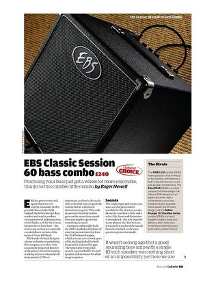 Guitarist EBS Classic Session 60 bass combo