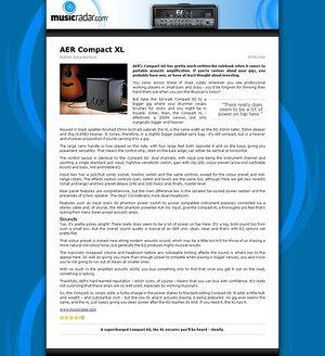 MusicRadar.com AER Compact XL