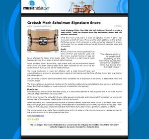 MusicRadar.com Gretsch Mark Schulman Signature Snare