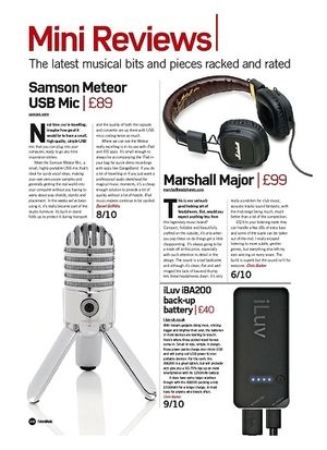 Future Music Samson Meteor USB Mic