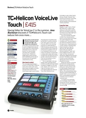 Future Music TC Helicon VoiceLive Touch