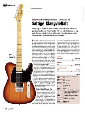 guitar gear E-Gitarre - Fender Modern Player Telecaster Plus & Stratoca