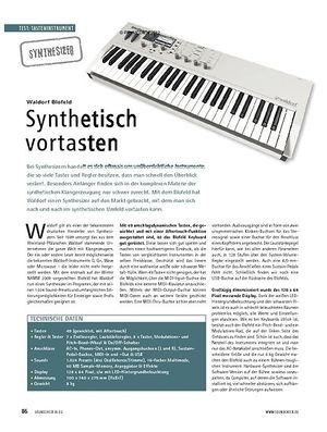 Soundcheck Test Synthesizer: Waldorf Blofeld