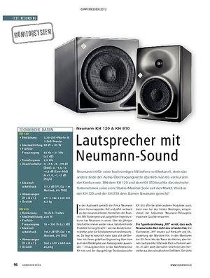 Soundcheck Neumann KH 120 und KH 810