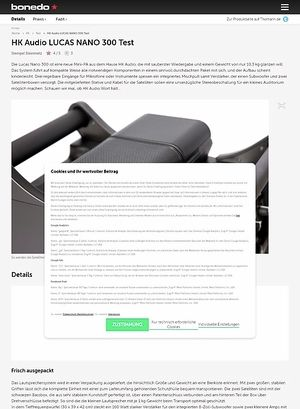 Bonedo.de HK Audio LUCAS NANO 300 Test